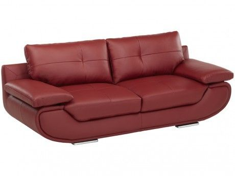 Linea Sofa Canapé 3 places cuir luxe Orgullosa - Rouge