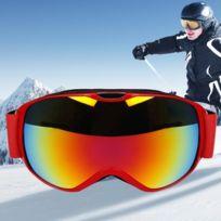 383ec4a077 Wewoo - Masque rouge enfants Anti-buée Windprooof Uv protection lunettes  avec sangle réglable +