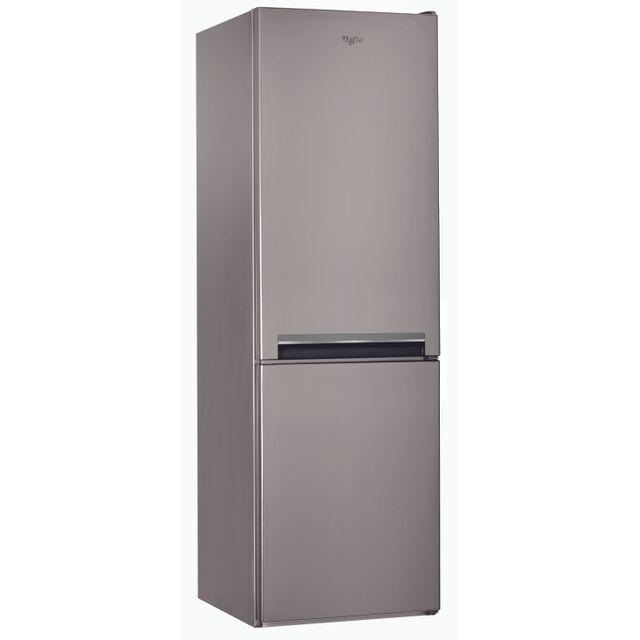 Whirlpool Réfrigérateur congélateur combiné BSNF8101OX Capacité totale 319 L - Niveau sonore 42 dB - Classe A+ - Froid ventilé - Dégivrage automatique - Autonomie de 17 heures