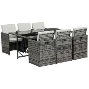 habitat et jardin salon de jardin r sine tress e chicago 6 florida gris nc pas cher. Black Bedroom Furniture Sets. Home Design Ideas