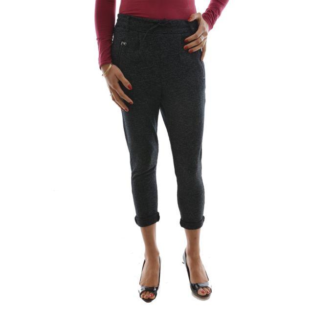 Only - Pantalons poptrash gris L 34 - pas cher Achat   Vente Pantalon femme  - RueDuCommerce 2cf7bd1bba9