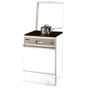 GODIN - cuisinière à bois 8kw blanc - 240151b