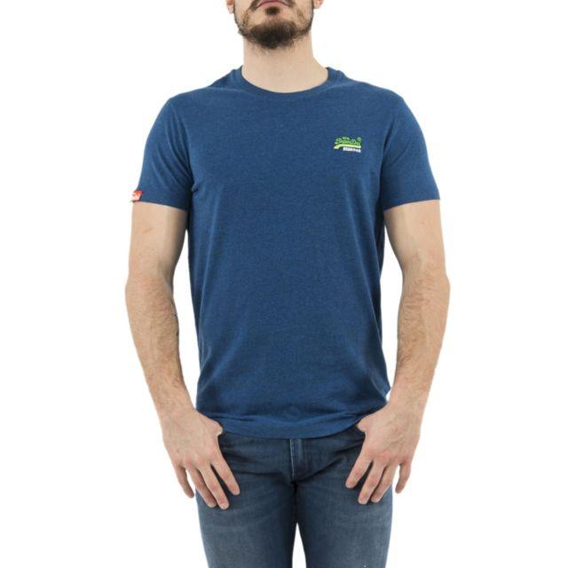 Fila Tee shirt 680427 bleu pas cher Achat Vente Tee