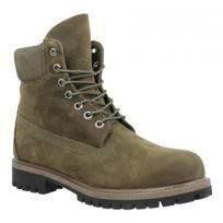 Timberland - 6in Premium Wp velours Homme-43,5-Olive