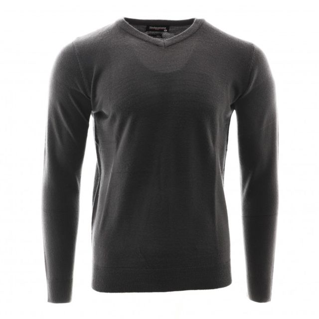 SINEQUANONE Pull col V gris anthracite homme Sinéquanone Cashmere Touch Gris S