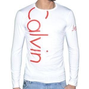 Calvin klein t shirt manches longues homme cmp53u - Tee shirt manche longue calvin klein ...