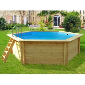 Habitat et jardin piscine bois hexa x m pas for Piscine bois habitat et jardin