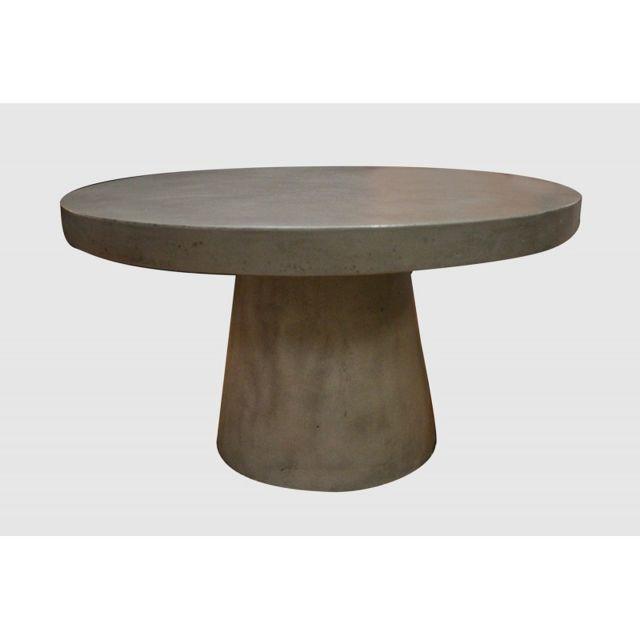 Meubletmoi Table basse ronde diamètre 70 - Grey