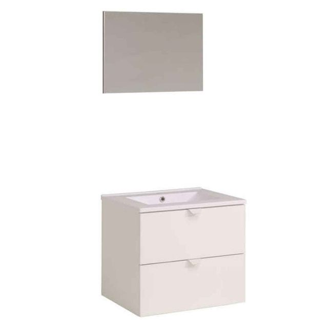 paris prix ensemble meuble salle de bain saavus 61cm blanc brillant pas cher achat vente. Black Bedroom Furniture Sets. Home Design Ideas