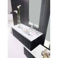 planetebain meuble de salle de bain capiton 99cm noir laqu complment plus que 3 articles - Meuble Salle De Bain Noir Laque