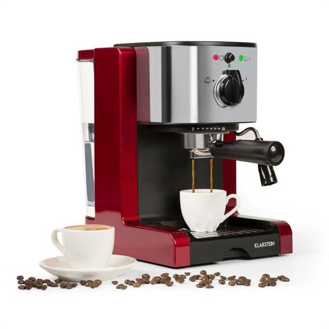 KLARSTEIN Passionata Rossa 20 Machine à expresso 20 bars Capuccino Mousseur de lait - rouge