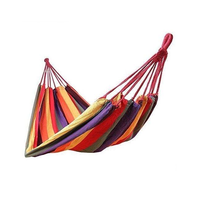 Hamac de jardin transat bain de soleil 300 kg multicolore 2212017