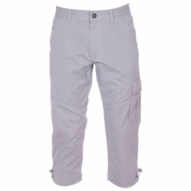 5a7f46dc85f Tbs - Pantacourt Fubcou gris clair à ceinture élastiquée - pas cher Achat    Vente Pantalon homme - RueDuCommerce