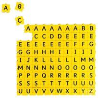 Morphun - sachet de 90 lettres majuscules 3 x 3 cm