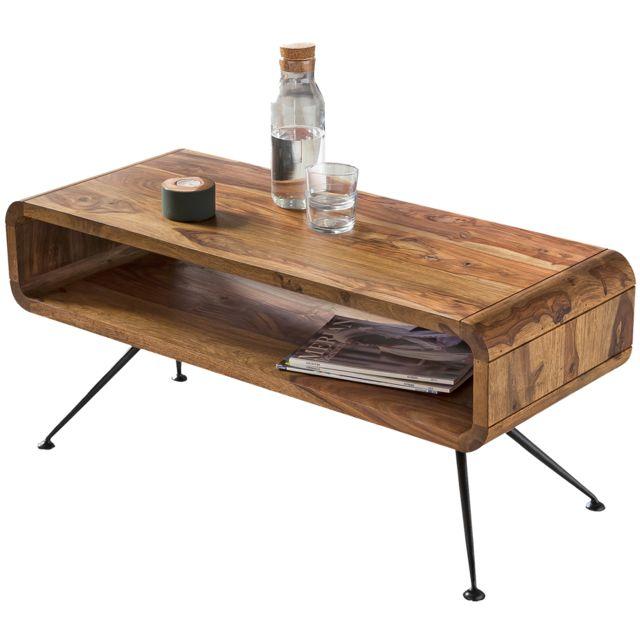 En Design Sheesham Basse Avec Table Massif 100x40cm Comforium Bois BtoshxQrdC