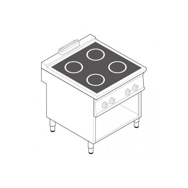 Materiel Chr Pro Plaque de cuisson électrique à induction - 4 plaques 20 kW - gamme 900 - Tecnoinox - 900