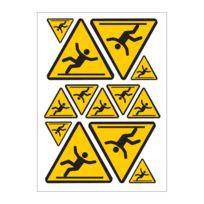 Mygoodprice - Planche A4 de stickers danger Sol glissant autocollant adhésif - C70