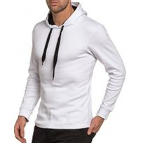 BLZ Jeans - Sweat-shirt homme blanc à capuche