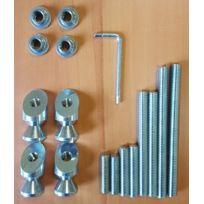 ouvre&deco . Quincaillerie porte, Barre de tirage Kit de fixation Kit de fixation - Kit de fixation pour barre de tirage inclinée diamètre 32 mm, système double