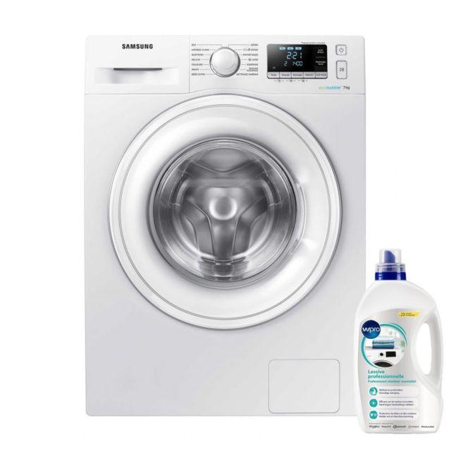 Samsung Lave-Linge Frontal Blanc 7kg Pose Libre 1400trs/min A+++ 60cm Soin linge