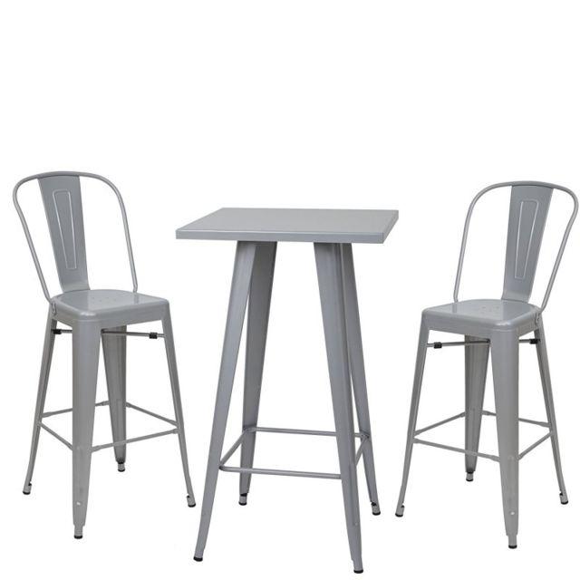 Table appoint gris - Tabouret de bar rue du commerce ...