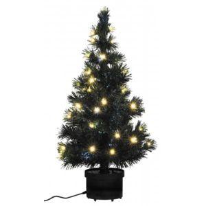 d co maison sapin no l lumineux vert 80 cm fibres optiques 40 leds blanc chaud illumin es. Black Bedroom Furniture Sets. Home Design Ideas
