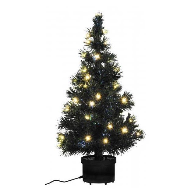 Incroyable Déco Maison - Sapin Noël lumineux vert 80 cm fibres optiques & 40 CI-89