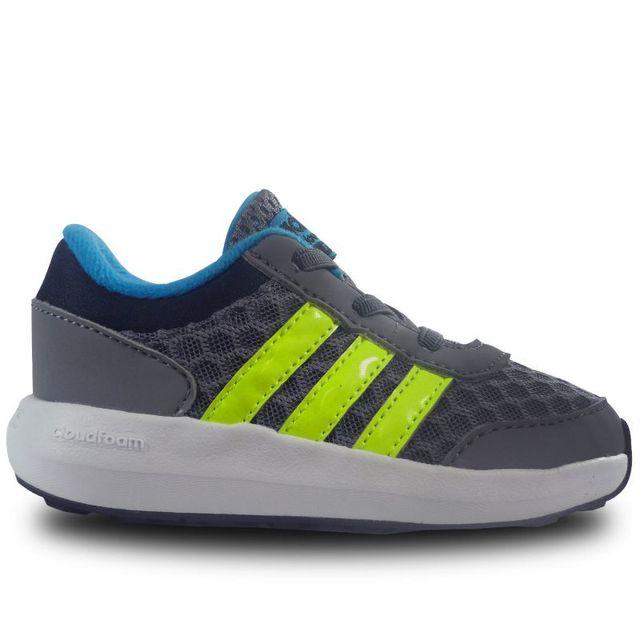 06d9fdc89b476 Adidas - Chaussure bébé enfant cloudfoam race - pas cher Achat   Vente  Baskets enfant - RueDuCommerce