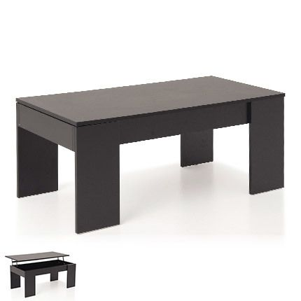 Table basse relevable noir - Evoplus