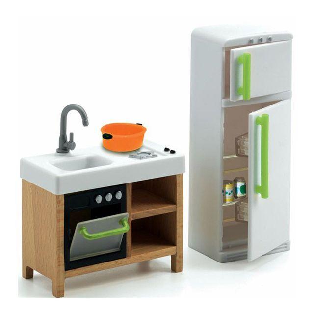 Djeco Mobilier pour maison de poupées : Cuisine compacte