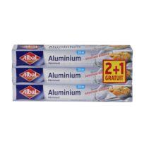 ALBAL - Lot de 3 rouleaux de papier aluminium