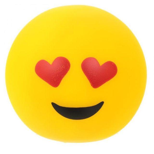 Sans Marque Lampe ou Veilleuse Emoji Yeux en Coeur Led