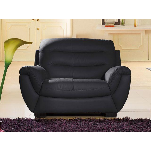 La maison du canap fauteuil en cuir coral noir sebpeche31 - La maison du canape ...