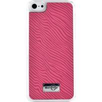 Blueway - Coque rigide effet zébré rose pour iPhone 5C