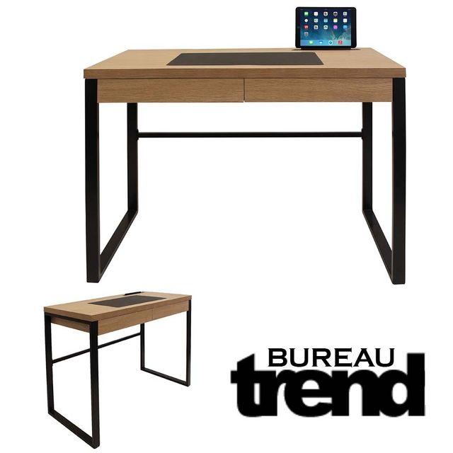 ego design bureau industriel trend bois et metal noir. Black Bedroom Furniture Sets. Home Design Ideas