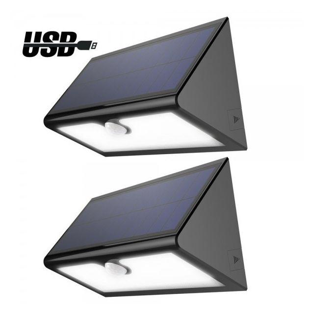 Alpexe lampe solaire sans fil 46 led 600 lumens eclairage ext rieur imperm able avec 4 modes - Eclairage de jardin sans fil ...
