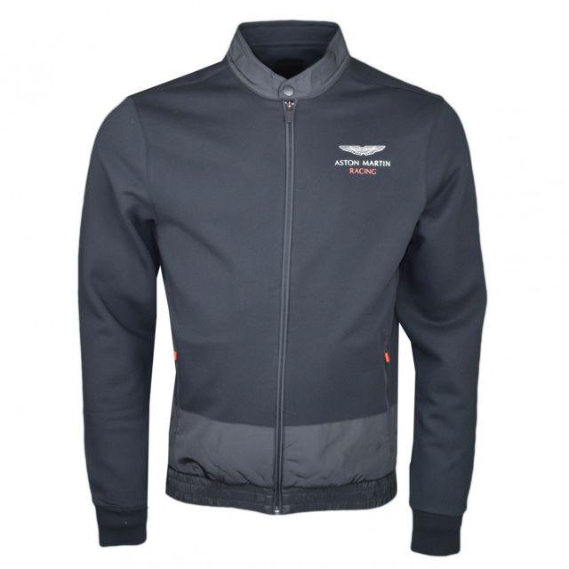 65bd9e378975f2 Hackett - Veste sweat noire Aston Martin pour homme - pas cher Achat   Vente  Blouson homme - RueDuCommerce