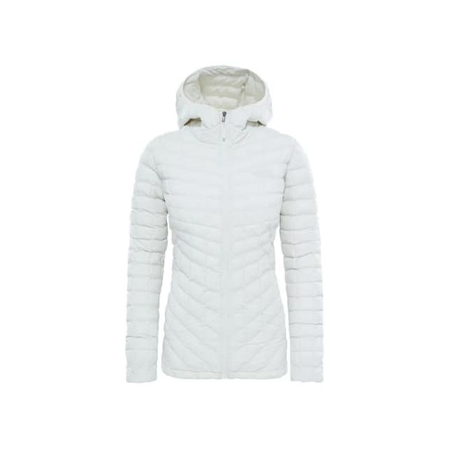 485813ee7b ... The north face - Veste The North Face ThermoBall Hoodie gris femme ...