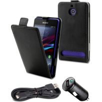 Made For Xperia - Pack accessoires Made for Sony Xperia E1 Etui Film écran allume cigare
