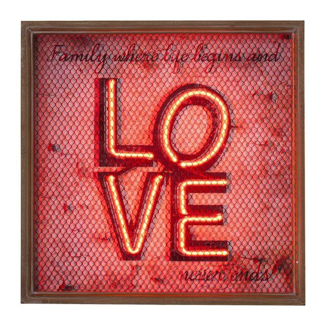 Karedesign Applique murale Love Neon Grid Kare Design