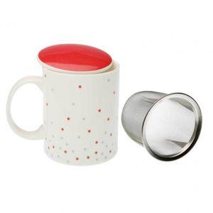 versa mug th avec filtre cosmo blanc rouge pas cher achat vente tasse rueducommerce. Black Bedroom Furniture Sets. Home Design Ideas
