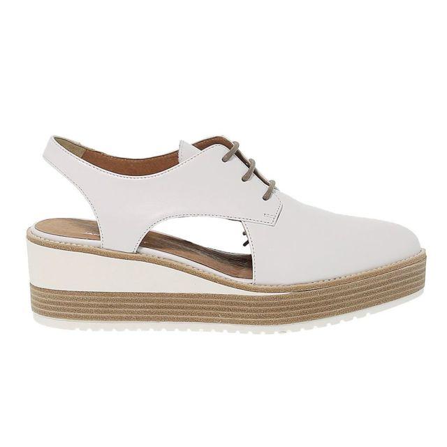 Janet Sport Femme 39751 Blanc Cuir Chaussures À Lacets