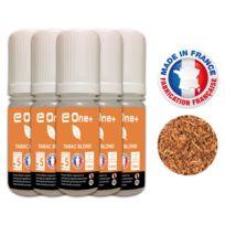 E One+ - 5 E-liquides 10ml Tabac Blond 5 mg/ml fabrication Francaise