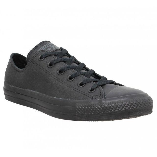 Converse - Chuck Taylor All Star cuir Homme-43-Black Noir ...