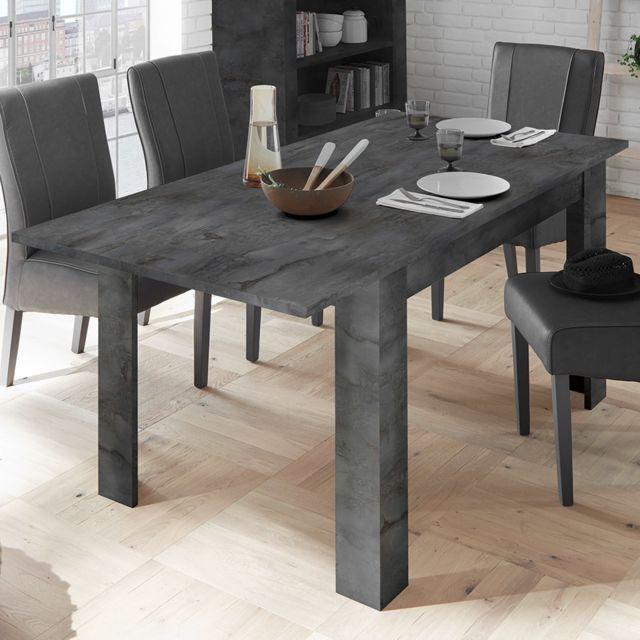 Kasalinea Table extensible grise couleur béton Dominos 4