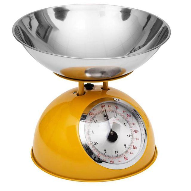 Secret De Gourmet Balance de cuisine rétro jaune 5kg
