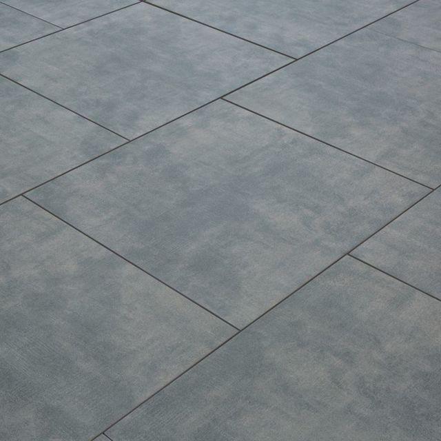 Carrelage Exterieur Spécial Plots Terrasse 60 X 60 Cm Gris Béton Ciré 1 Dalle 60x60 0 36m