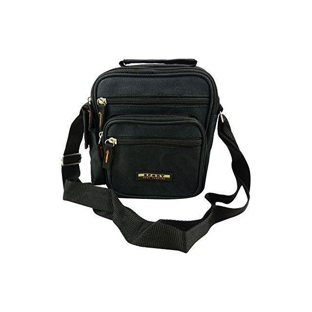 kinsell sac sacoche en bandouliere avec poign e noir. Black Bedroom Furniture Sets. Home Design Ideas