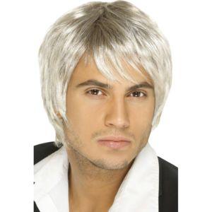 Marque generique perruque homme ann e 70 blond meche blonde tu pas cher achat vente - Meche blonde homme ...