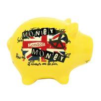 Decoetdesmots - Tirelire Cochon Jaune - London Money